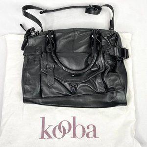Kooba Black Super Soft Leather Crossbody Bag